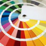 palette avec option de couleurs de peinture