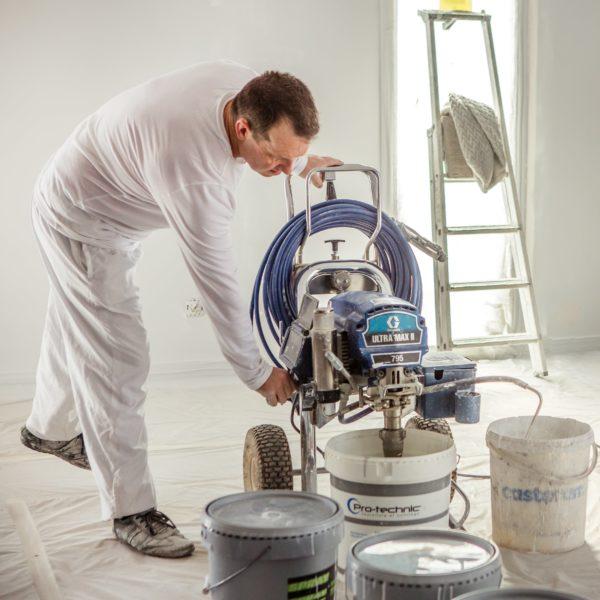peintre prepare machine peinture airless graco